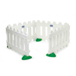 vallas infantiles de plastico color blanco