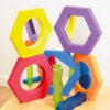 Set de espejos hexagonales