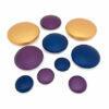 Piedras metálicas de colores