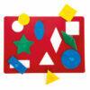 Rompecabezas de formas y colores para panel de luz