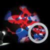 Rueda de Lava Azul/Rojo Para Space Proyector