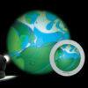 Rueda de Lava Azul/Verde Para Space Proyector