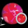 Rueda de Lava Violeta/Rojo Para Space Proyector