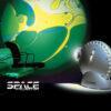 Space ProYector: Proyector de Lámparas de Lava Con Disco Azul y Verde