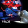 Space ProYector: Proyector de Lámparas de Lava Con Disco Azul y Rojo