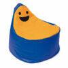 Puff Smiley BanBag Azul oscuro y Naranja