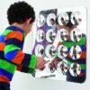 Espejo Acrílico con 16 Círculos Convexos 49 cm.