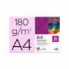 Cartulina LIDERPAPEL A4 180 gr rosa paquete de 100 hojas