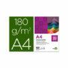 Cartulina LIDERPAPEL A4 180 gr verde billar paquete de 100 hojas