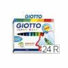 Rotulador giotto turbo-maxi caja de 24 colores lavables con punta bloqueada
