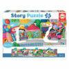"""26 Vehículos en la ciudad """"Story Puzzle"""""""