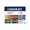 lapices cera manley caja de 50 colores