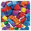 Fun Jumbo Foam Formas para enhebrar - 500 Pieces